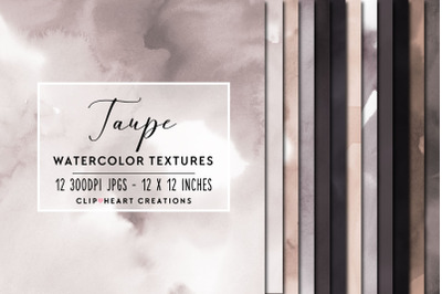 Taupe Watercolor Digital Papers