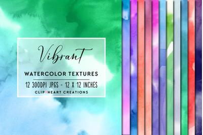 Vibrant Watercolor Digital Papers