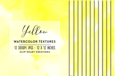 Yellow Watercolor Papers