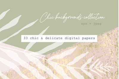 Chic delicate backgrounds