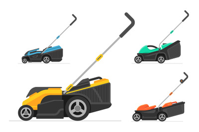 Set of lawnmower
