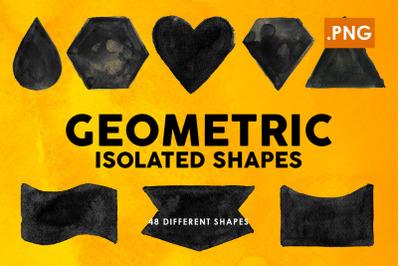 Geometric Ink PNG Shapes
