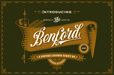 Benford font collection & extras