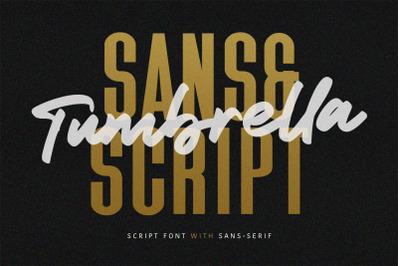 Tumbrella - Script Sans Font Duo