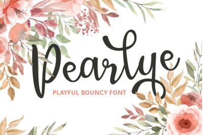 Pearlye - Playful Bouncy Font