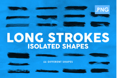 Long Strokes PNG Ink Shapes