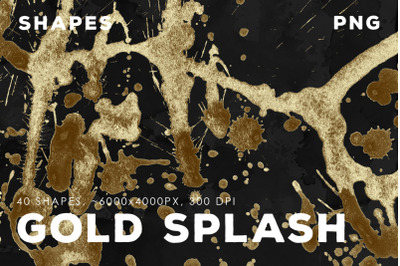 PNG Gold Paint Splashes