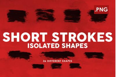 Short Strokes PNG Ink Shapes