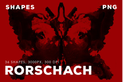 PNG Rorschah Ink Shapes Vol.1