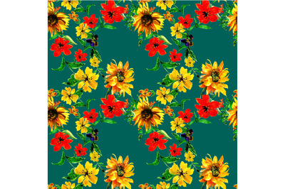 Seamless  flowers pattern
