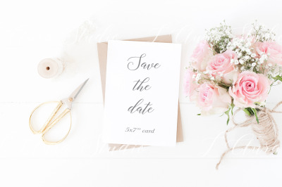 Save the date mockup psd/png