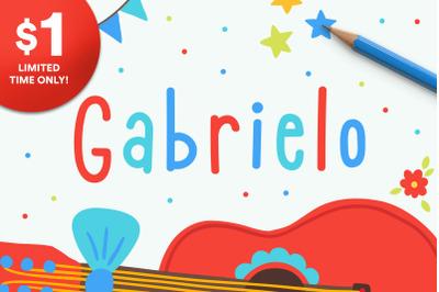 Gabrielo | Fun Handwritten Font