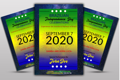 Brazil Independence Day Flyer