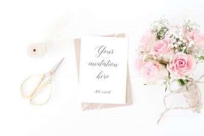Wedding invitation mockup psd/png