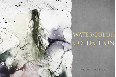 Abstract Japanese Watercolor Collection
