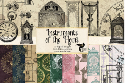Instruments of the Hours Digital Scrapbook Kit