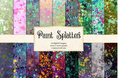 Paint Splatters Digital Paper