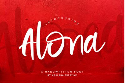 Alona - Handwritten Font