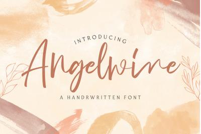 Angelwine - Handwritten Font