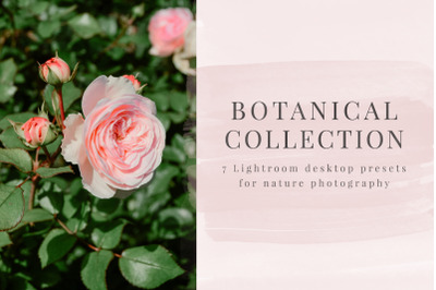 7 Botanical Presets for Lightroom