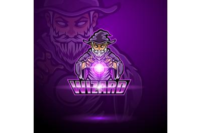 Wizard esport mascot logo