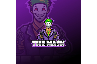 The mask esport mascot logo