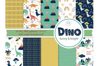 Dino Patterns - Digital Paper