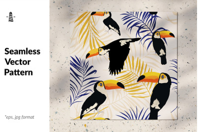 Toucan seamless pattern