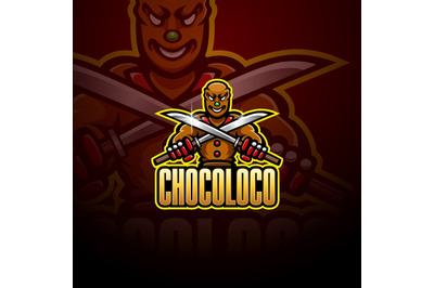 Ninja chocolate esport mascot logo