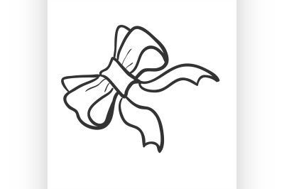 Doodle bow-knot