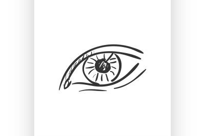 eye doodle drawing