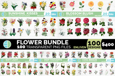 Flowers Bundle (100 Flowers)