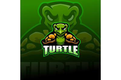 Turtleesport mascot logo