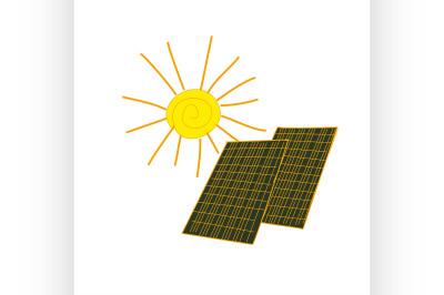 colored doodle solar panels