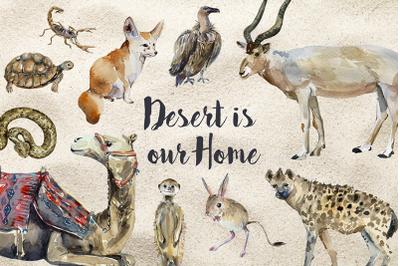 Desert Animals - Clip Art and Print