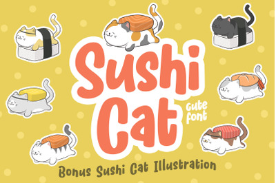 Sushi Cat Bonus Illustration