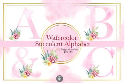 Watercolor clipart font