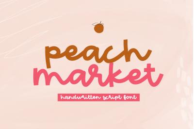 Peach Market - Handwritten Script Font