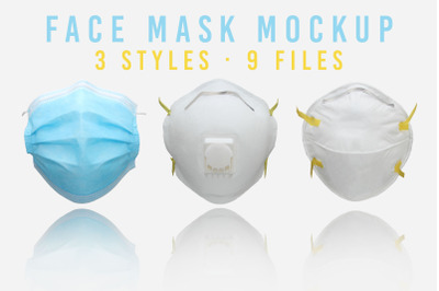 Face Mask Mockup Set