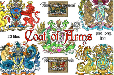 Colorful coat of arms