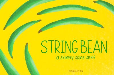 String Bean Skinny Font