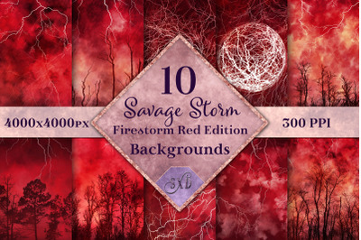Savage Storm - Firestorm Red Edition Backgrounds Set
