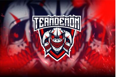 Team Demon Esport Logo Template