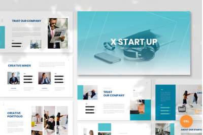 XStartUp - Startup Google Slides Template