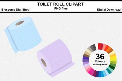 Toilet Roll Sticker Clipart, 36 files, multi colours