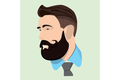 Man Icon vector graphic hipster