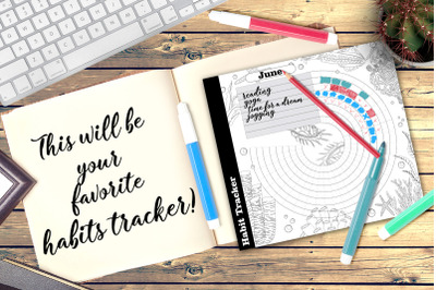 habits tracker, bullet magazine template for good habits