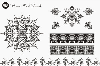 Flower Mandala. Vintage decorative elements. Oriental pattern, vector