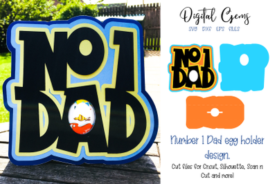 Number one Dad, fathers day design