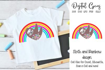 Sloth rainbow design